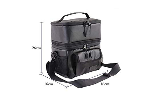 FOOEN Insulated Lunch Bag for Men, Nylon Adult Lunch Box for Travel, Picnic, Office, Camping, Car, Kayak, Beach, Sports