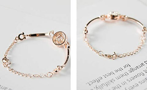 Ava Evelyn Dofihy Jewellery Bracelets for Women Rose Gold Rhinestone Bracelet Birthday Jewelry Women Gold Bracelets for Girls
