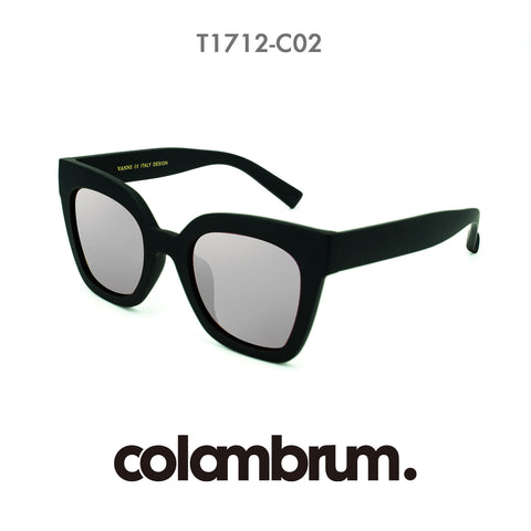 Colorambrum Retro Vintage Cateye Sunglasses for Women Plastic Frame Mirrored Lens SJ2939 with Black Frame/Grey Lens