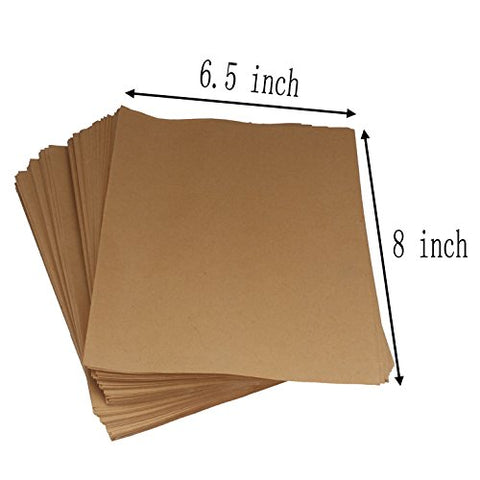 OZISI 100 Pack Brown Kraft Paper Bags packaging for Candy Bar Treat Snack Cookie Goodie, 6.4
