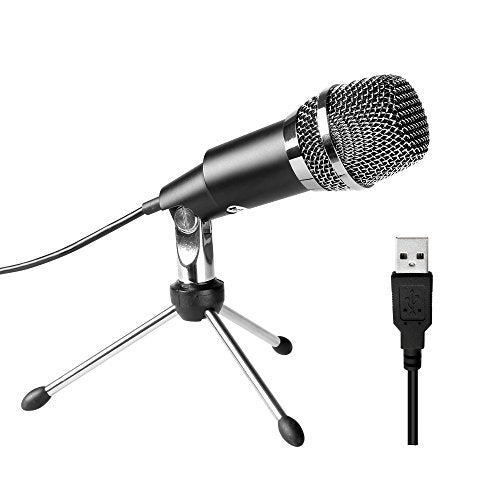 Plug &Play USB Microphone for Skype, Recordings for YouTube(K668)