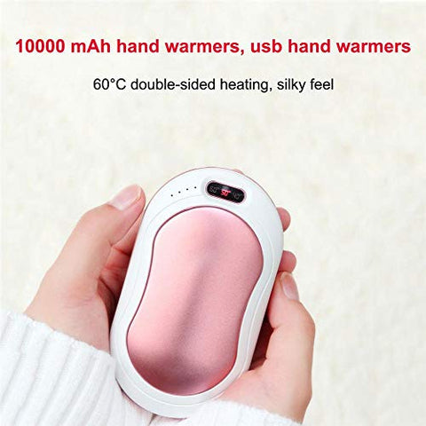 LOVESUN Hand Warmers Rechargeable,Long-Lasting Heating 10000mAh Electric USB Hand Warmer, Body Warmer Battery Powered Great for Camping,Hunting,Warm Gift