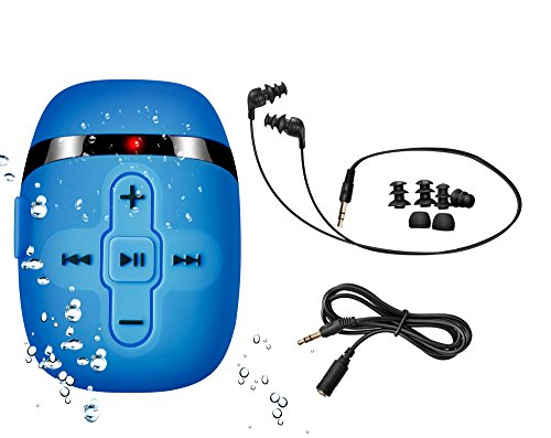 HiFi Sound Waterproof MP3 Player with Short Cord 3 Types Earbuds