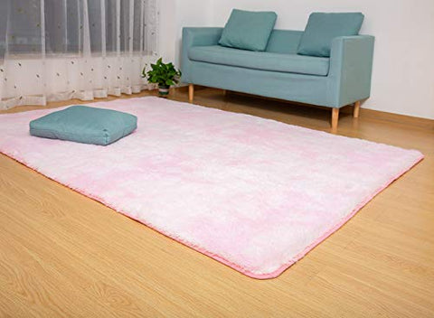 Gellyche Soft Carpet Indoor Modern Shag Area Silky Smooth Fur Rugs Fluffy Rugs Living Room Home Decor Floor Carpet