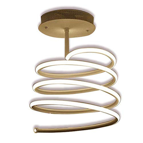LOVESUN A chandelier LED Dimmable Ceiling Lamp Modern Spiral Design Ceiling Lamp Creative Simple Metal Acrylic Chandelier Interior Lighting Fixtures For Living Room Bedroom Corridor Remote Contro