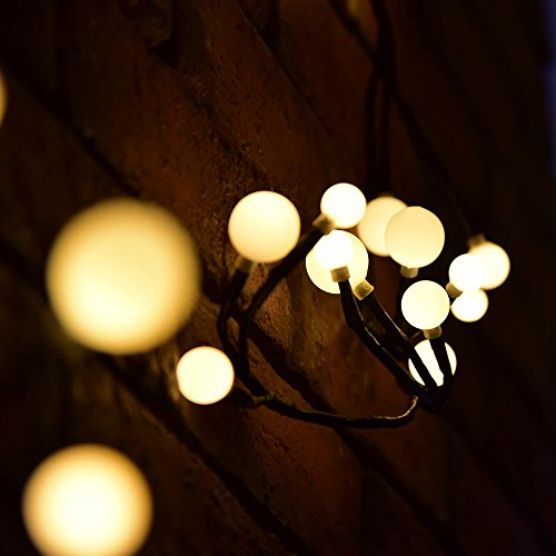 LOVESUN 2.5M LED String Lights Warm White Lamp with 72 Lights for Indoor Bedroom Wedding Party Outdoor Christmas Garden Decorations