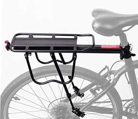 ZRVATO 110 Lbs Capacity Almost Universal Adjustable Bike Luggage Cargo Rack Bicycle Accessories Equipment Stand Footstock Bicycle Carrier Racks