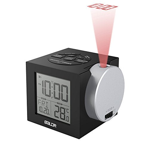 BALDR Projection Clock, Digital Alarm Clock with Snooze