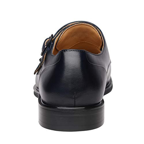 a66b4acd86fb Men s Classic Double Monk Strap Full Grain Leather Shoes – Deal ...
