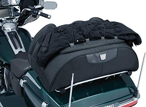ZRVATO 5281 Momentum Hitchhiker Motorcycle Travel Luggage: Weather Resistant Trunk Rack Bag, Black