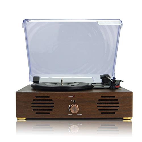 Record Player with 3-Speed Turntable Speakers Bluetooth Radio
