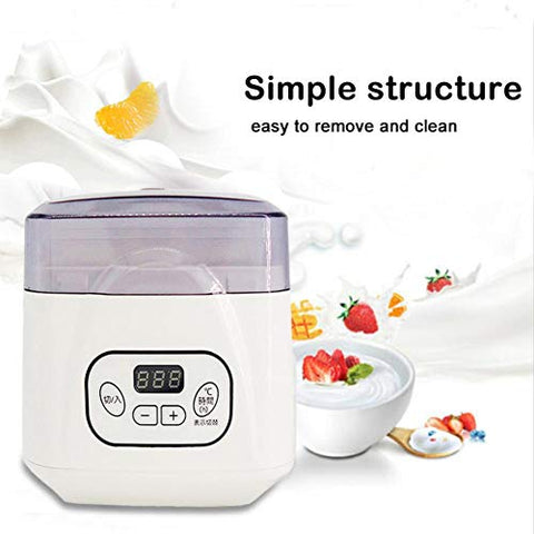 MCBON Multi-functional Yogurt Maker Machine, Automatic Household Adjustable Temperature Time All-round Heating Yogurt Machine for Ermented Food/Yogurt/Natto/Rice Wine