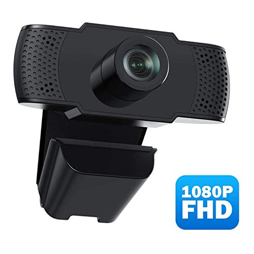 Webcam with Microphone, 1080P HD Webcam Streaming Computer Web Camera for Online Teaching/Business Meeting, Plug and Play Face Camera with Auto Focus for PC Desktop Laptop