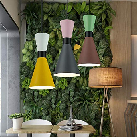 LOVESUN Light Pendant Lights Dining Room Pendant Lamps Restaurant Kitchen Handlamp LED Luminaire Suspendu Industrial Lamp Handing MDYHJDHYQ (Body Color : 2, Size : Free)