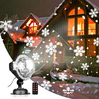 peiduo Snow Falling Projector Lights with Snowflakes /Snow Storm Projector Light with RF Remote Control Indoor&Outdoor for Christmas/Holiday Party Decorative