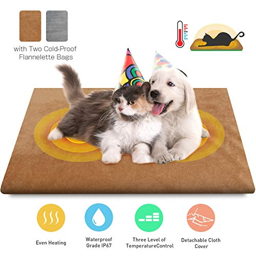 Pet Heating Pad Mat with 27.5 Inches Chew Resistant Cord