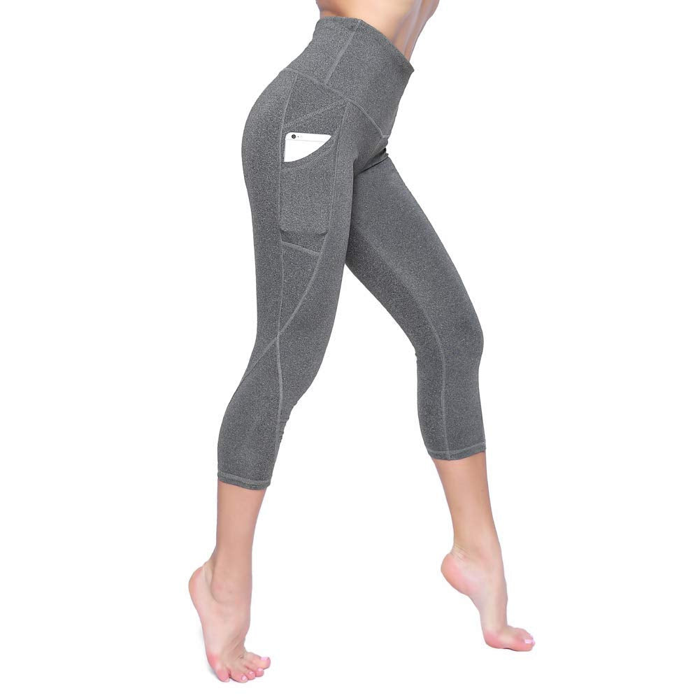 High Waist Yoga Pants-Tummy Control 4 Way Stretch Leggings with Pocket