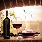 XES3GO Wine Decanter, 100% Lead-Free Hand Blown Crystal Glass, Red Wine Carafe, Wine Aerator with Wide Base,Wine Accessories,Wine Gift, Red Wine Carafe(1200ML)