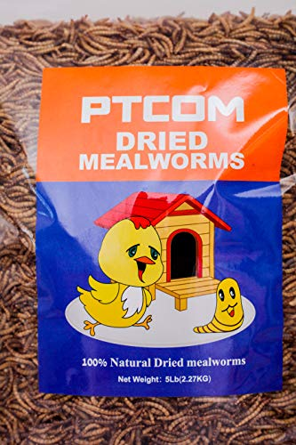 5LBS Dried mealworms for Birds Food, Chicken Feed, Retiles Food