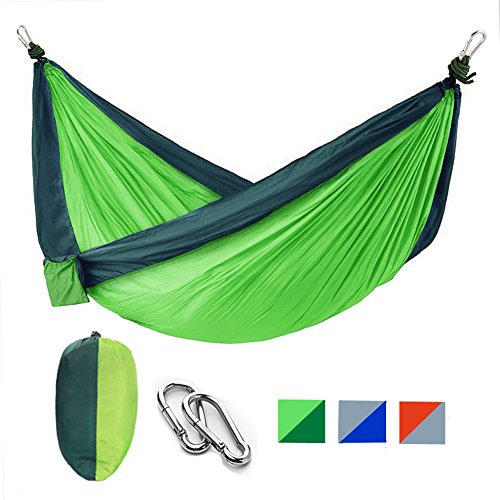 Nylon Parachute Portable Camping Hammock Kit With Two Hammock Straps