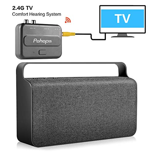 Wireless TV Speaker for Smart TV Hard of Hearing Seniors