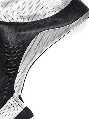 JUNEHUITON Youth Boys Reversible Mesh Performance Athletic Basketball Jerseys Blank Team Uniforms for Sports Scrimmage (10 Pack, Black/White, Youth L)