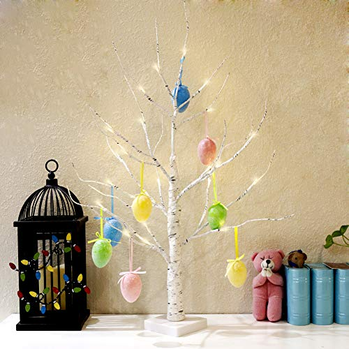 Vanthylit LED Easter Egg Floral Tree Lights Centerpiece Decoration Tabletop for Home Wedding Holiday