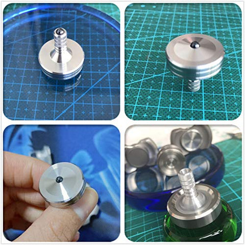 Loqatidis Spinning Top Precision Gyroscope Kill Time Metal Balance Toy Stainless Steel T001