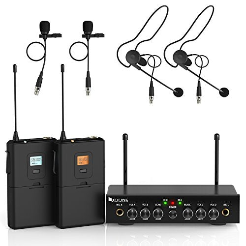UHF Dual Channel Wireless Microphone Set