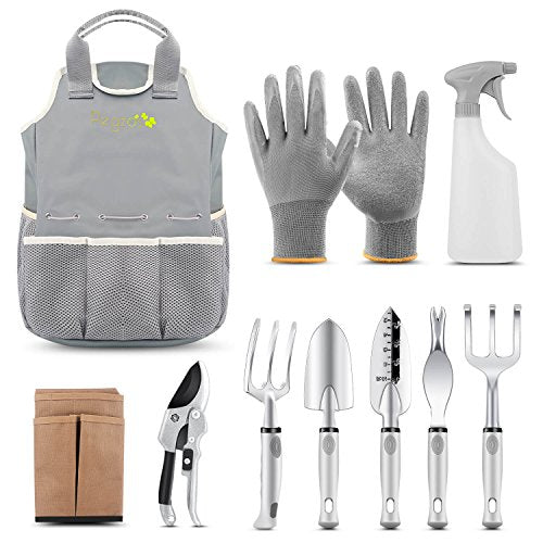 PEGZOS 10 Piece Garden Tools Set