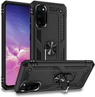Qarany Samsung Galaxy S20 FE 5G Case, Military Grade Protective Phone Case with Ring Car Mount Kickstand Shock Scratch Support Shockproof Cover for Samsung Galaxy S20 FE 5G