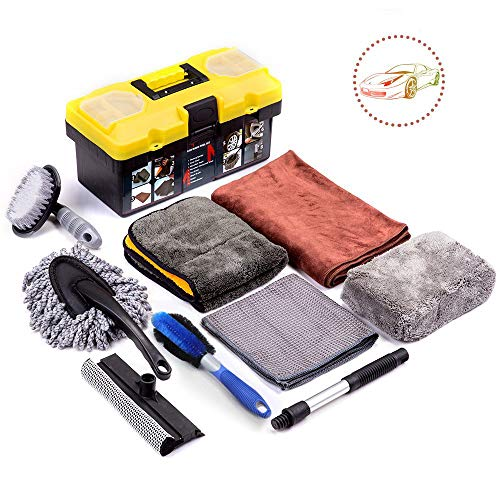 Mofeez 9pcs Car Cleaning Tools Kit With Blow Box