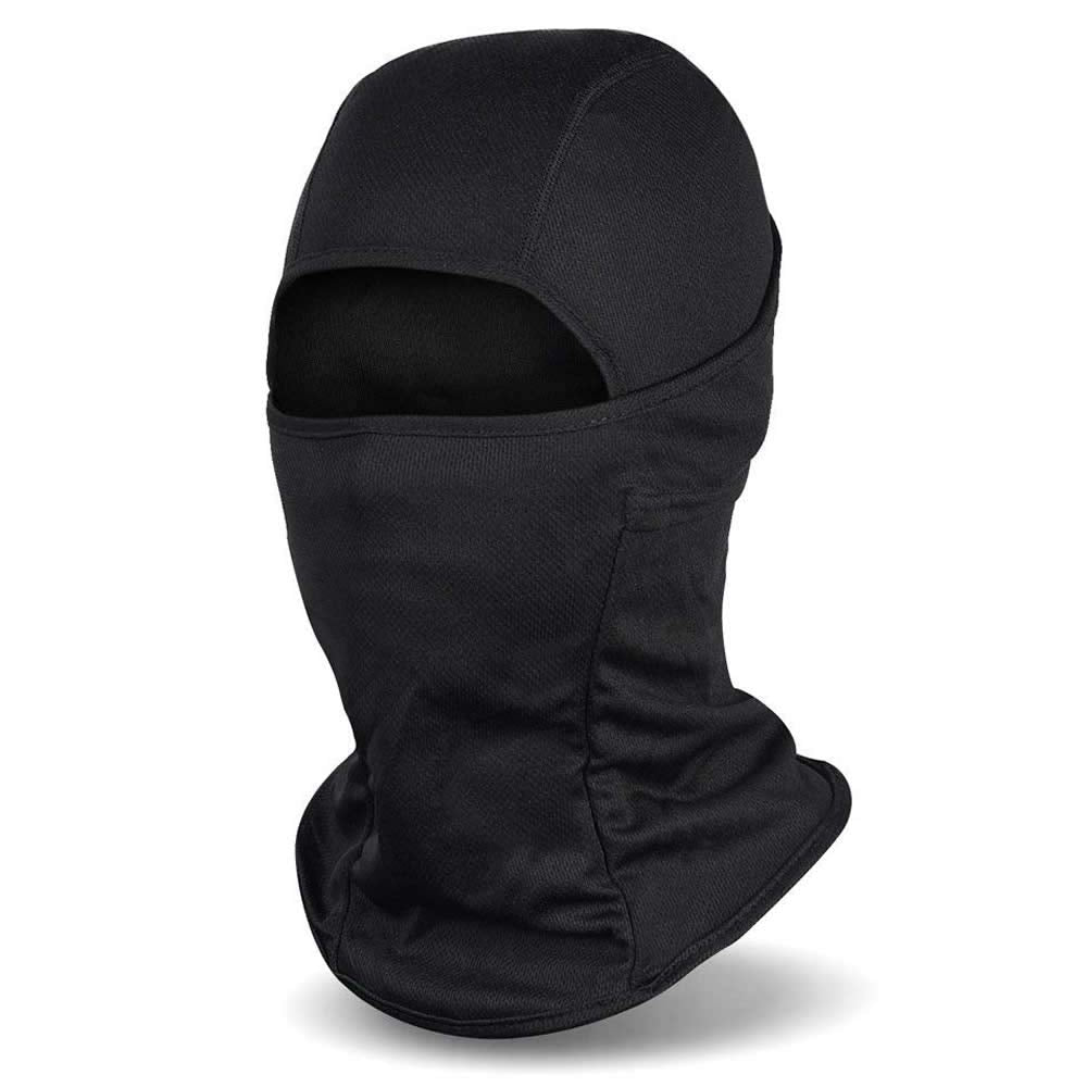 Balaclava, Windproof Mask Adjustable Face Head Warmer for Skiing, Cycling, Motorcycle Outdoor Sports Motorcycle Tactical Skiing Face Mask (Black)