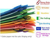 Paper Clips 10 Assorted Colors 80PCS
