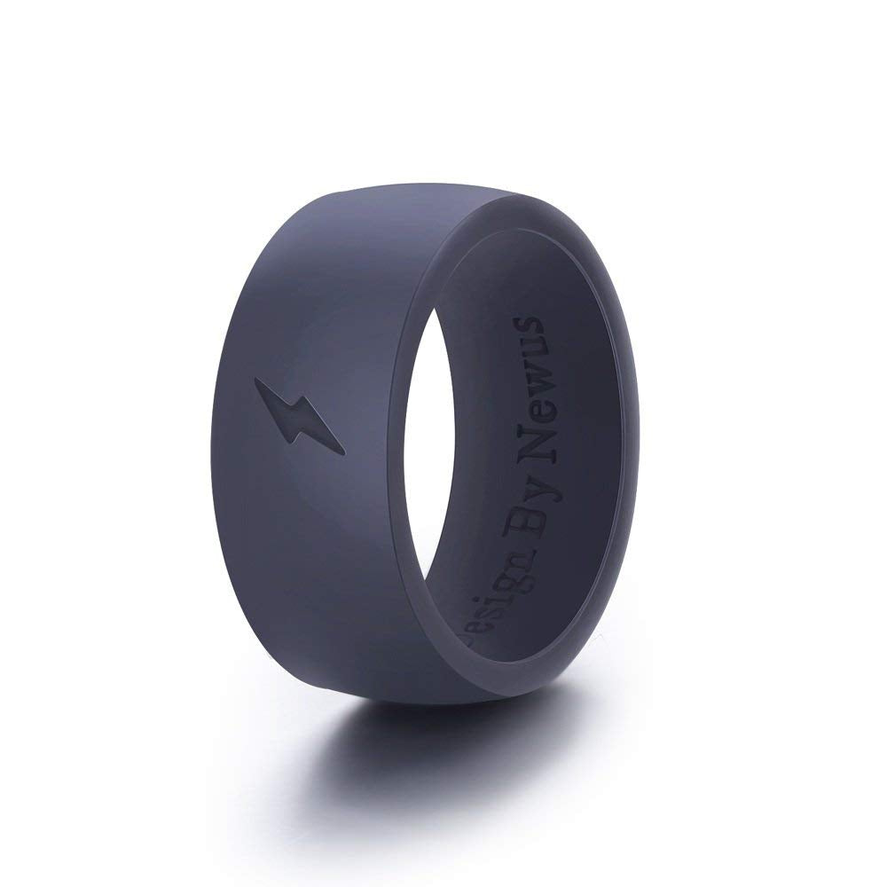 Silicone Wedding Ring, Comfortable Fit & Skin Safe, Rubber Bands