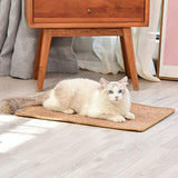 TCIOD Cat Scratcher Mat, 23.6 X 15.7 Inch Natural Sisal Cat Scratch Mats, Horizontal Cat Floor Scratching Pad Rug, Protect Carpets and Sofas