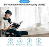 Portable Mini Cooler Fan with Bluetooth Speaker, 3 Speeds Personal Cooling System Necklace, USB Rechargeable Super Quiet Working, Handfree Neck Fan for Summer Indoor Outdoor Travel (Black)