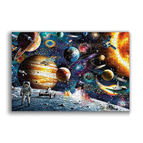 Jigsaw Puzzle 1000 Piece for Adults & Kids, Space Puzzles Intellectual Decompressing Fun Family Game Large Puzzle Game Toys Gift