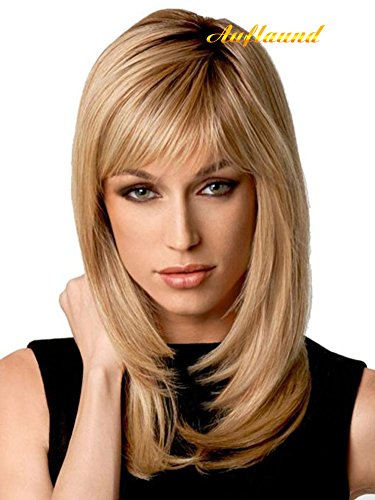 Long Natural Ombre Blonde Straight Wigs for Women with Wig Cap