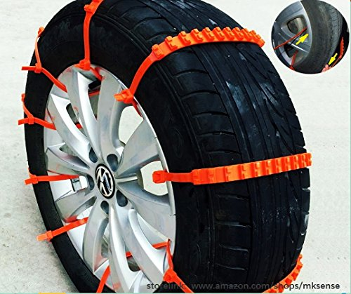 Easy Universal Fit Emergency Anti-Skid Mud Snow Survival Traction Car Tire Chains