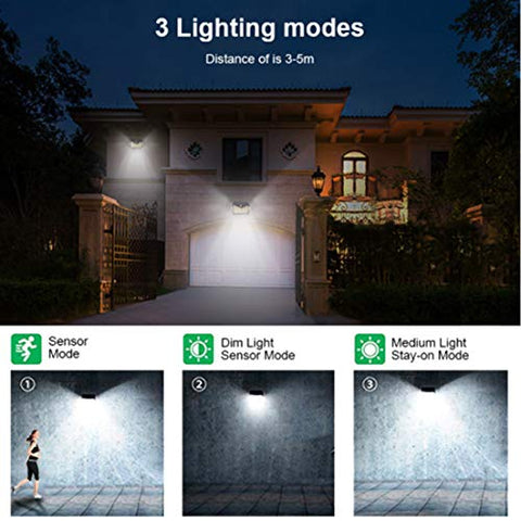 MUSERAY Lamps for Outdoor USE Solar Lights Outdoor 140 LED with Lights Reflector Motion Sensor Security Lights IP65 Waterproof Solar Powered for Garden Patio Yard (2Pack)