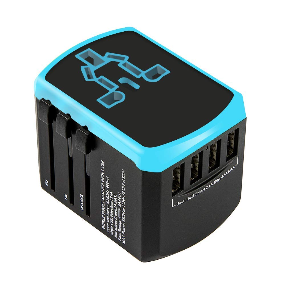Travel Adapter Universal USB Charger Converter Plug Wall Socket