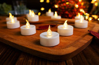 Tea Lights,50 Pack Flameless LED Tea Lights Candles,Realistic Flickering Bulb Warm Yellow 100+ Hours Battery Operated Tea Lights Candles. Ideal for Parties, Weddings, Birthdays, Gifts and Home.