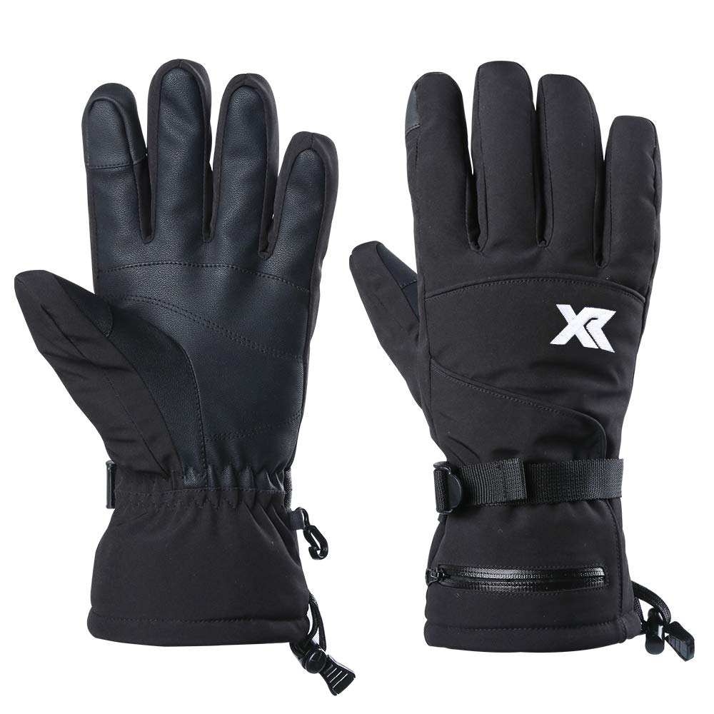 XR Waterproof Warm Ski Gloves 3M Thinsulate Windproof Breathable Snowboarding Gloves for Outdoor Cold Weather Fits Men Women (X-Large)