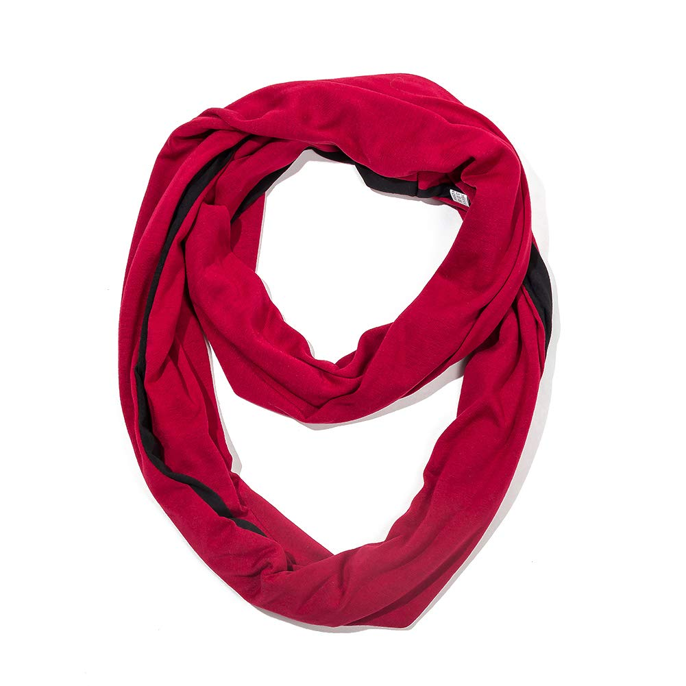 Infinity Scarf Shawl Wrap - 2019 Fashion Women's Scarf with Zipper Pocket, Lightweight Travel Scarf