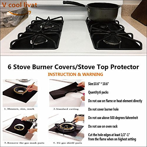 Reusable Gas Stove Burner Covers
