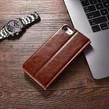 Kiro&Seeu iPhone 7/8 Wallet Case, iPhone SE Case 2nd Generation Premium PU Leather Folio Flip Cover with Kickstand and Credit Slots for Apple iPhone 7/8/SE 4.7 Inch (Brown)