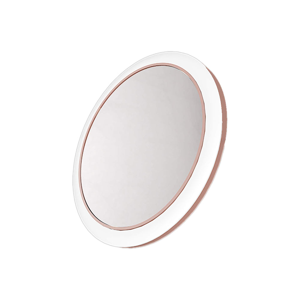 Mirrex Portable Lighted Makeup Mirror with Wireless Charging base for IOS and Andriod Phone, Vanity Mirrors with LED Lights, Professional Cosmetic Mirror for Travel, Skin Care Prefect for Women