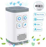 L&N Always 4IN1 Portable Air Purifier | Mini Ozone Generator + Negative Ion Generator | No Filter Change Need Design | Air Cleaner for Odors Eliminating, Travelling, Outdoor, Room, Pets