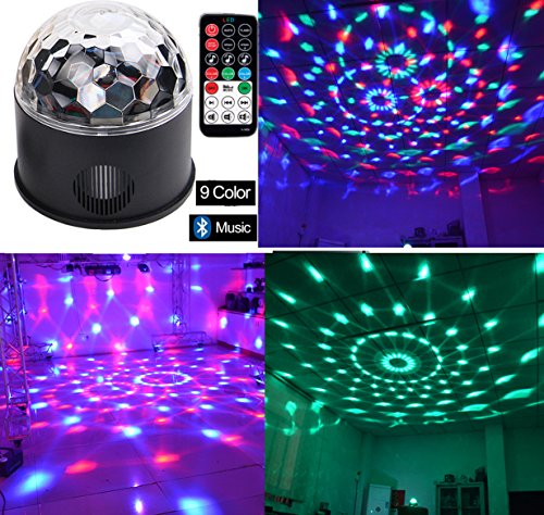 Wonsung Bluetooth+speaker magic ball disco stage light